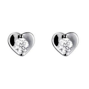 2 carats Heart shape stud earrings round cut diamo